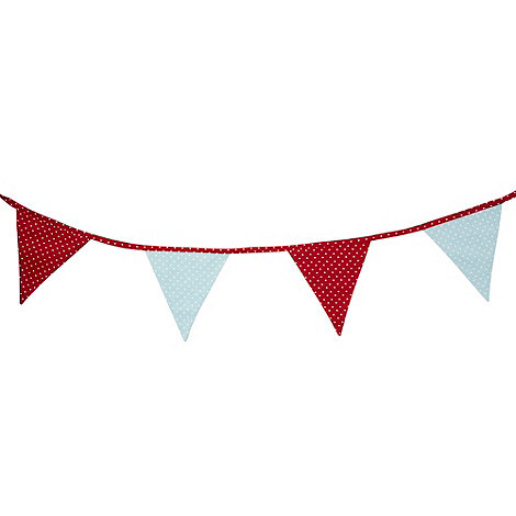 At home with Ashley Thomas - Red and blue heart printed bunting