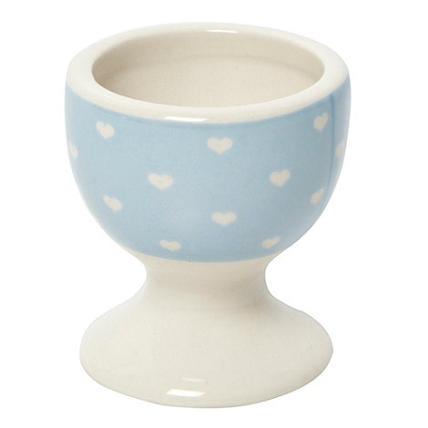 At home with Ashley Thomas - Blue hearts egg cup
