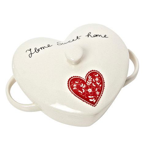 At home with Ashley Thomas - Ashley Thomas white stoneware small casserole dish