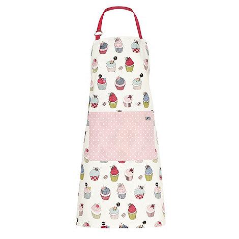 At home with Ashley Thomas - White cupcake apron