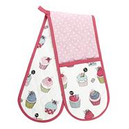 Cotton double oven gloves