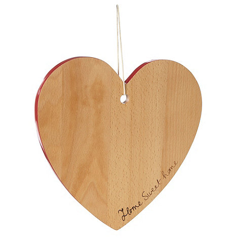 At home with Ashley Thomas - Beech wood heart-shaped chopping board