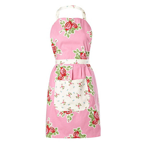 At home with Ashley Thomas - Pink floral apron