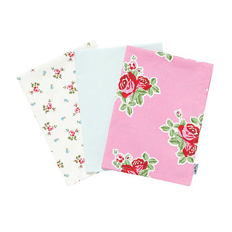 At home with Ashley Thomas - Set of three floral tea towels