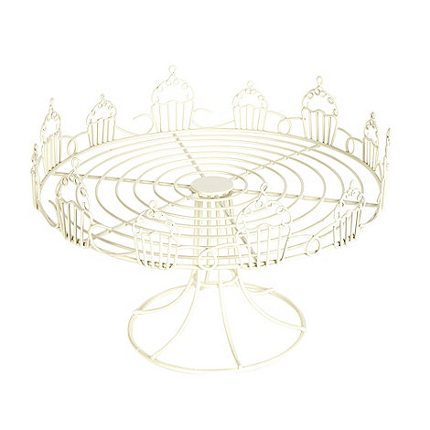 At home with Ashley Thomas - Cream wire cupcake cake stand