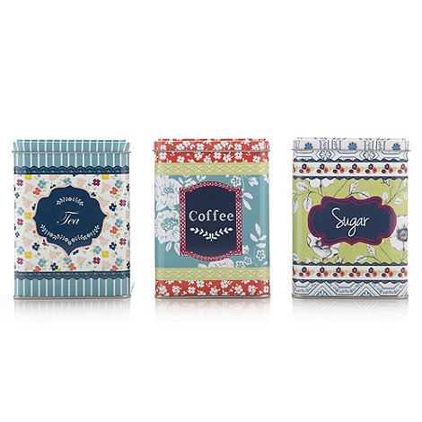 At home with Ashley Thomas - Set of three patterned tins