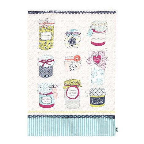 At home with Ashley Thomas - Pink jams tea towel
