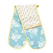 Designer cotton 'Heirloom' double oven gloves