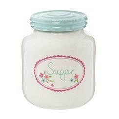 At home with Ashley Thomas - Designer white print 'Sugar' jar