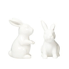 At home with Ashley Thomas - Stoneware bunny salt and pepper shakers
