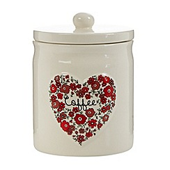 At home with Ashley Thomas - Ceramic heart 'Coffee' jar