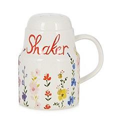 At home with Ashley Thomas - Ceramic floral icing sugar shaker