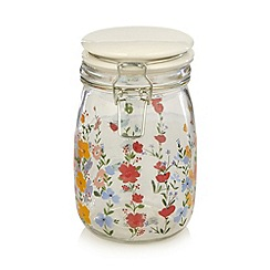 At home with Ashley Thomas - Red floral large glass storage jar