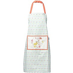 At home with Ashley Thomas - Blue bunny printed apron