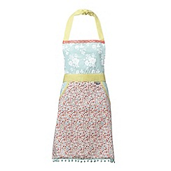 At home with Ashley Thomas - Red heir floral printed apron