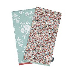 At home with Ashley Thomas - Set of two floral printed tea towels