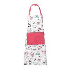 At home with Ashley Thomas - Pink teacups printed apron