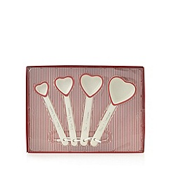 At home with Ashley Thomas - Set of four cream heart measuring spoons