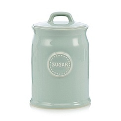 At home with Ashley Thomas - Pale green ceramic 'Sugar' storage jar