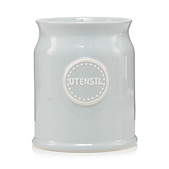 At home with Ashley Thomas - Pale green ceramic storage jar