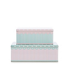 At home with Ashley Thomas - Set of two metal rectangle cake tins