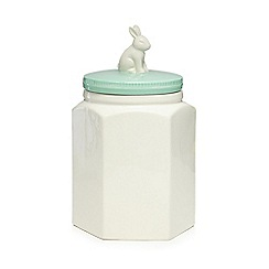 At home with Ashley Thomas - Porcelain rabbit lid biscuit jar