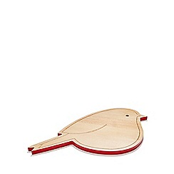 At home with Ashley Thomas - Wood robin chopping board