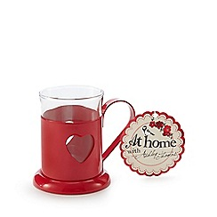 At home with Ashley Thomas - Red heart mug