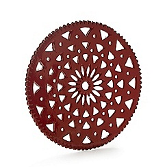 At home with Ashley Thomas - Red snowflake trivet