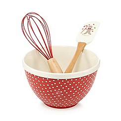 At home with Ashley Thomas - Christmas ceramic bowl, spatula and whisk set