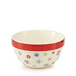 At home with Ashley Thomas - Stoneware Christmas pudding bowl
