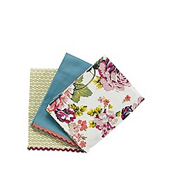 At home with Ashley Thomas - Set of three floral printed tea towels