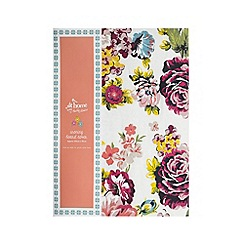 At home with Ashley Thomas - Pink floral striped print ironing board cover
