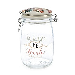 At home with Ashley Thomas - White clip lock storage jar
