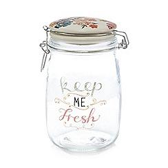 At home with Ashley Thomas - White clip lock storage jar