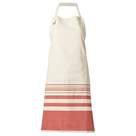 RJR.John Rocha - Cotton cream multi striped apron
