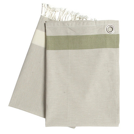 RJR.John Rocha - Set of two natural woven striped tea towels