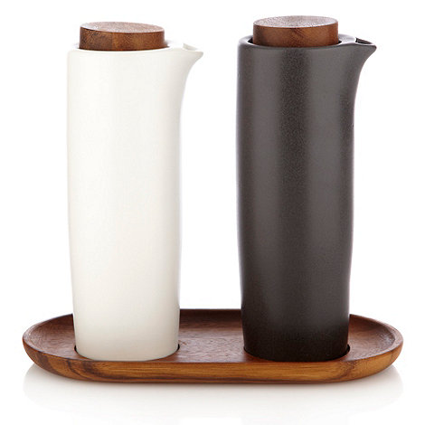 RJR.John Rocha - Brown and grey oil and vinegar bottle set