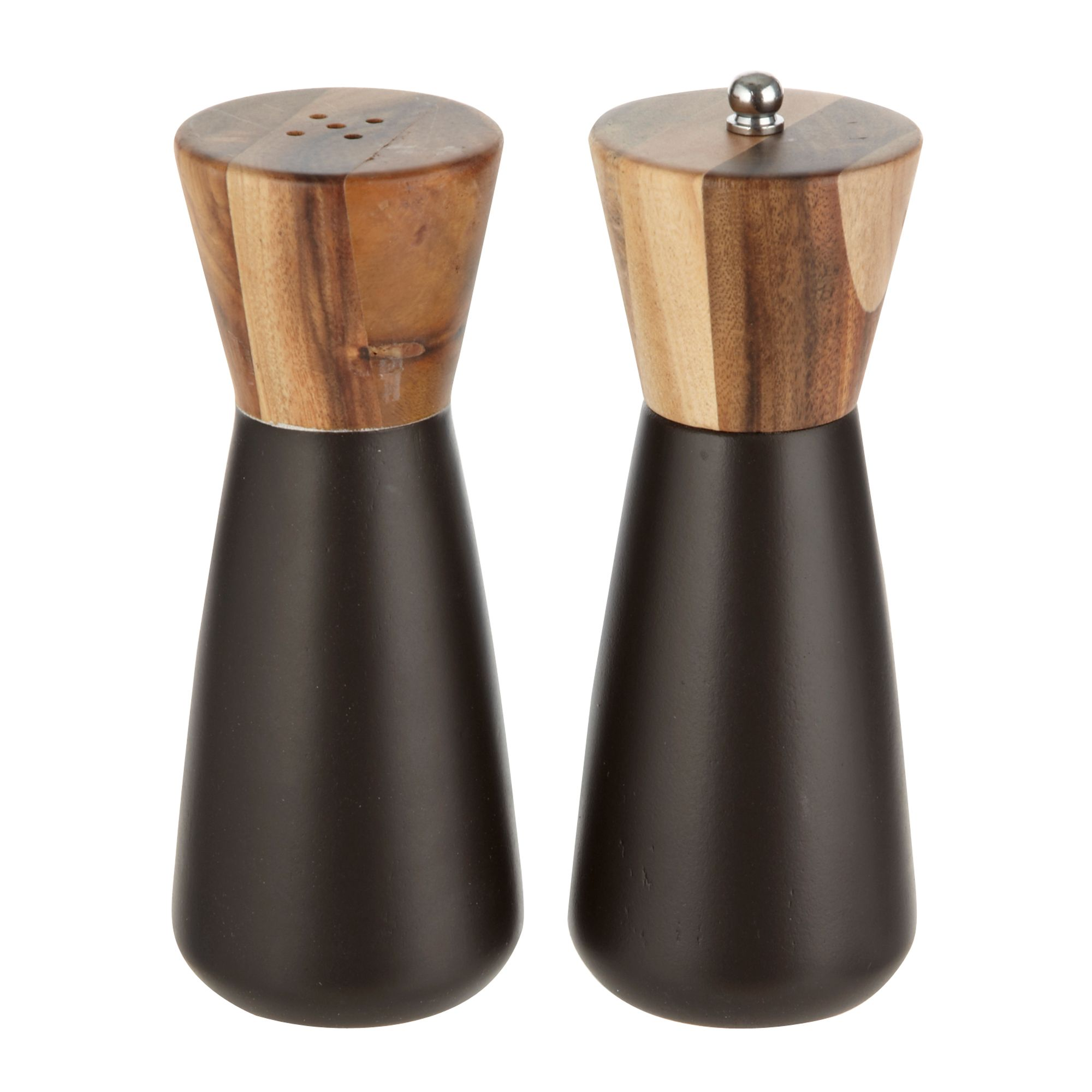 rocha john rocha wooden salt and pepper mill set ebay. Black Bedroom Furniture Sets. Home Design Ideas