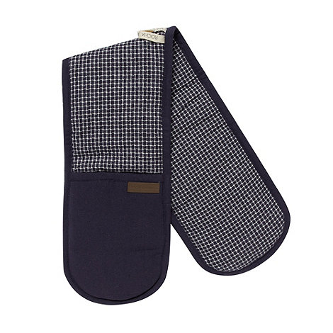 RJR.John Rocha - Designer navy cotton woven double oven gloves