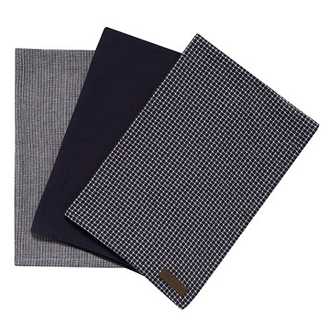 RJR.John Rocha - Designer bale of three navy cotton tea towels