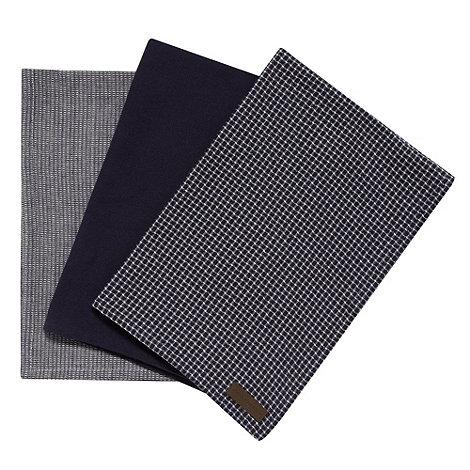 RJR.John Rocha - Designer bale of three navy cotton tea towels
