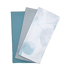 RJR.John Rocha - Set of three turquoise tea towels