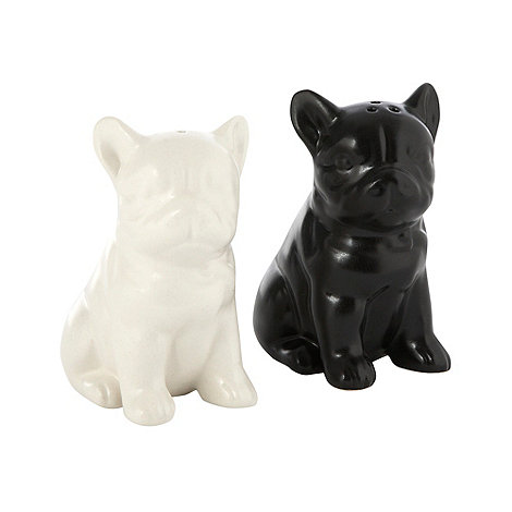 Ben de Lisi Home - Ben de Lisi earthenware +Dog+ salt and pepper shakers