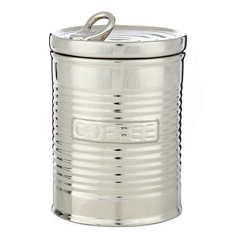 Ben de Lisi Home - Silver coffee storage jar