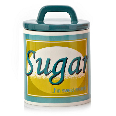 Ben de Lisi Home - Turquoise 'Sweet enough' sugar jar