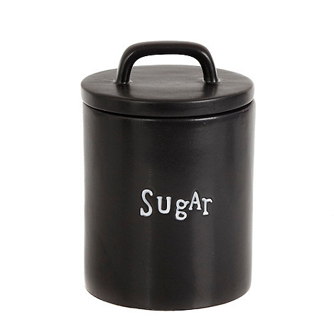 Ben de Lisi Home - Black +Sugar+ letter press storage tin