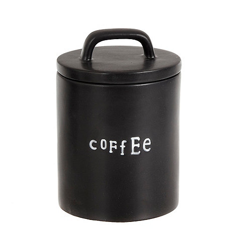 Ben de Lisi Home - Black 'Coffee' letter press storage tin