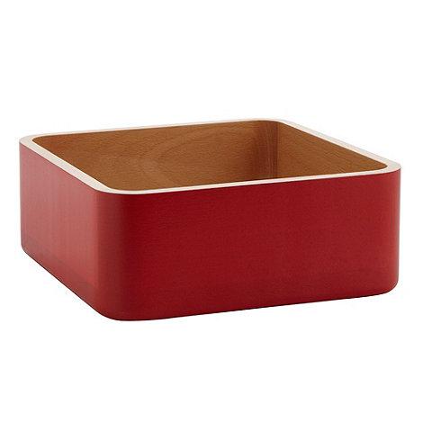 Ben de Lisi Home - Designer natural large square wooden stacking bowl