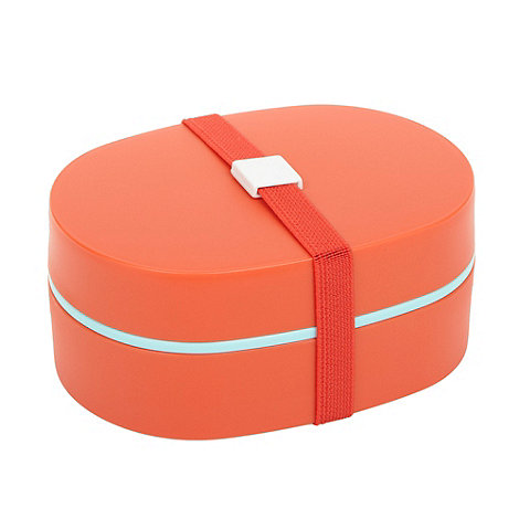 Ben de Lisi Home - Designer orange plastic lunch box